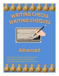 Writing Checks Writing Cheques $3 Grades 4-9, Adult