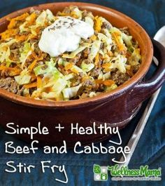 Simple and Healthy Beef and Cabbage Stir Fry Recipe - delicious and inexpensive