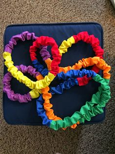 Music is Elementary: Stretchy Band DIY $19 for 5-6 students! Instructions with pictures! Preschool Music Activities, Music Education Activities, Movement Activities, Music For Kids, Good Music, Toddler Music, Music Mix, Music Classroom, Classroom Ideas