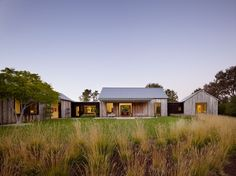 Doors are designed to open and spill out onto a lawn.