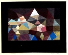 Paul Klee- Crystalline Landscape 1929 Watercolor x 42 cm Modern Art, Contemporary Abstract Art, Painting, Henri Matisse, Online Art, Abstract Art, Art, German Art, Paul Klee