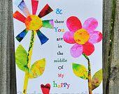8 x 10 Whimsical Art Print My Happy