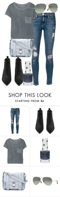 """""""Untitled #2488"""" by dkfashion-658 ❤ liked on Polyvore featuring Frame Denim, Acne Studios, Tyler Jacobs, Topshop, Proenza Schouler and Ray-Ban"""
