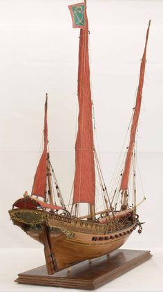 Mediterranean Shebek is a favorite vessel of Algerian pirates from the 16th-18th century. Model / Средиземноморская шебека - излюбленное судно алжирских пиратов 16 -18 века. Модель.