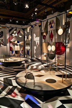 jaime hayon crafts kaleidoscopic pavilion for caesarstone within a milanese palazzo
