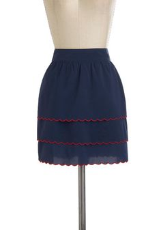 Gal in Scallops Skirt, #ModCloth