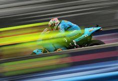 Alvaro Bautista of Spain and Rizla Suzuki MotoGP rides during a warm up for the Red Bull U.S. Grand Prix