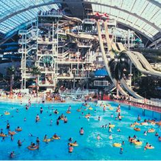 Water park in West Edmonton Mall. Don't you LOVE it? Shopping and swimming, my 2 favorite things to do, under 1 roof! FABULOUS!!!