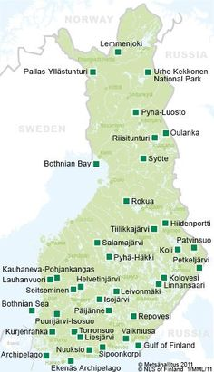 Go hiking and explore national parks in Finland Lappland, Helsinki, Lofoten, Places To Travel, Places To See, Finland Travel, Finland Food, T 62, National Parks Map