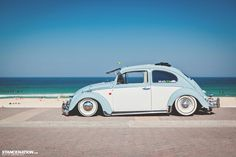 Perfect vw beetle restoration  .... ♠ VW beetle bug # slammed # beach life♠... X Bros Apparel Vintage Motor T-shirts, VW Beetle & Bus T-shirts, Great price
