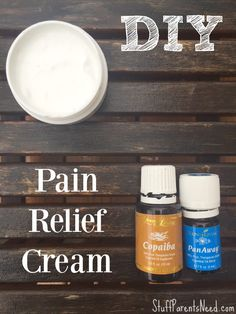 DIY pain relief cream using essential oils for life's aches and pains! Just 3 ingredients needed (Copaiba, PanAway and coconut oil)! Thrifty gift idea.