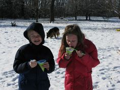 We had snow cones with real snow.  Just don't use yellow snow.  It has an odd flavor.