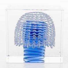 OIVA TOIKKA - Annual Cube for Nuutajärvi 1993, numbered 142/2000, Finland.   [h. 7,8 cm] Glass Design, Design Art, Glass Cube, Bukowski, Finland, Modern Contemporary, Retro Vintage, Cubes, Home Decor