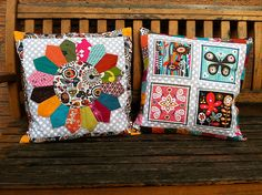 Fiona's gorgeous cushions. Really, could YOU pick a favourite? Not me...