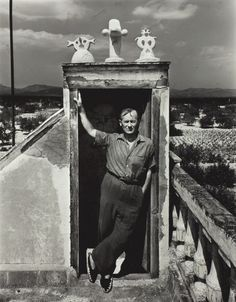 Joan Miró on his Studio Roof, Montroig, Spain, 1948. Photographed  by Irving…