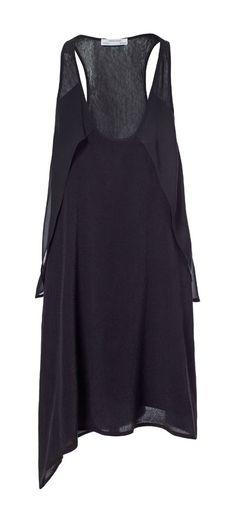 DRESS WITH SIDE FLOUNCE from Zara