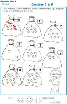 Math Gs, Act Math, Olaf Craft, Maternelle Grande Section, French Worksheets, Alphabet Pictures, Sensory Activities Toddlers, Math Addition, Teaching French
