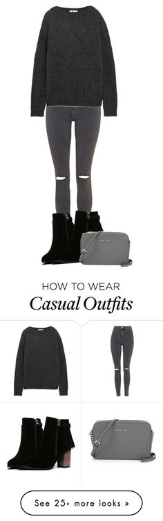 """""""Casual simple"""" by tigerlily789 on Polyvore featuring Topshop, Acne Studios, women's clothing, women's fashion, women, female, woman, misses and juniors"""