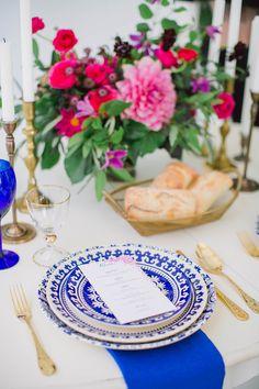 Cobalt Blue & Magenta Wedding Inspiration | http://www.adornmagazine.com/blog | Heidi Lau Phtography