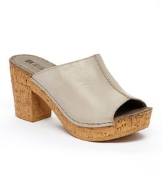 Another great find on #zulily! Gray Bankroll Leather Mule #zulilyfinds