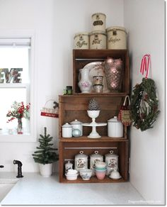 Blue Cottage Christmas Home Tour: Our Kitchen