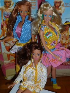 1987 California Dream group: Midge, Barbie, Teresa by Patty Is Totally Addicted To Barbie, via Flickr