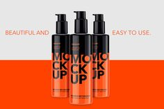 Plastic Cosmetic Pump Bottle  by Graxaim Mock-up on @creativemarket