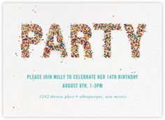 Birthday invitations, birthday invitation cards and invites - Paperless Post Invitation App, Invites, Online Birthday Invitations, Japanese Birthday, Minecraft Birthday Party, 2nd Birthday, Birthday Ideas, Paperless Post, Carnival Birthday Parties