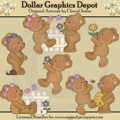 Boo Boo Bears - Spring Fever - Clip Art - $1.00 : Dollar Graphics Depot, Quality Graphics ~ Discount Prices