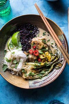 Thai Lemongrass Chicken Braised in Coconut Milk - one pot, one hour. Bok choy, lemongrass, ginger and lime - so moist andtender! From halfbakedharvest.com