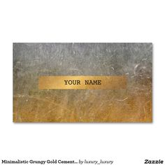 Minimalistic Grungy Gold Cement Wall Mustard Vip Pack Of Standard Business Cards