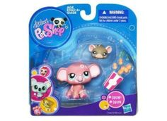 Littlest Pet Shop Pink Elephant #1808 and Mouse #1809 Collector Pets by Hasbro. $17.13. Warning: choking hazard small parts. Ages 4+. Set has pink Elephant #1808, Mouse 1809 and bag of peanuts. 2010 Littlest Pet Shop Collector Pet set