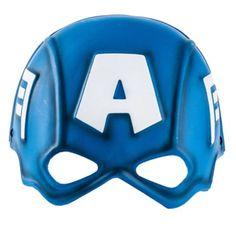 Plastic Captain America Mask for Children - Party City