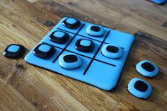 OOAK Fused Glass Tic-Tac-Toe board