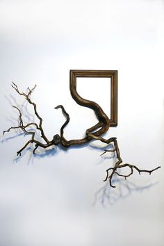 New Fusion Frames by Darryl Cox Fuse Gnarled Tree Roots with Ornate Picture Frames