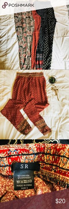 Print pants!! NWOT. Loose fit. Perfect for lounging, making a statement in the work place, or for yoga!! Pants Ankle & Cropped