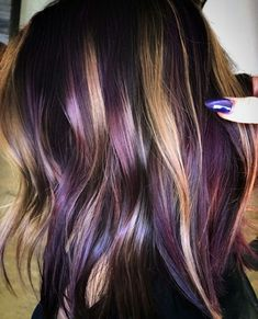 Peanut butter and jelly hair color