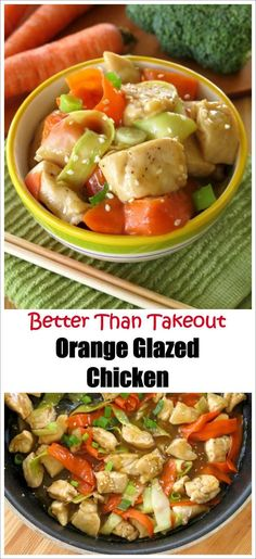 Chinese Orange Glazed Chicken recipe that's better and faster than getting takeout! My family loves this healthy version!