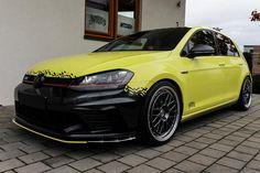 Ambulance Yellow Folierung VW Golf MK7 GTI Tuning (23)