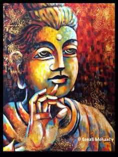 Buddha Series by Artist Sonali Mohanty.... Now Available