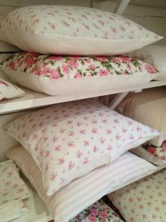 Throw Pillows made from vintage sheets (500×667)