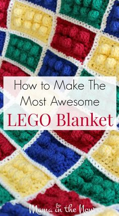 Creative Halloween Costumes - The Best Way To Be Artistic Over A Budget How To Make The Most Awesome Lego Blanket. This Blanket Is An Instant Hit With Children, Adult Fans Of Lego And Kids With Sensory Processing Issues. Afghan Patterns, Crochet Blanket Patterns, Baby Blanket Crochet, Crochet Baby, Knitting Patterns, Knit Crochet, Crochet Blankets, Baby Blankets, Free Crochet