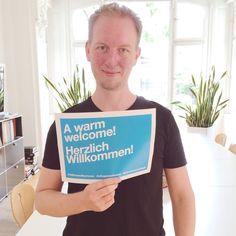 A warm welcome! Herzlich willkommen!