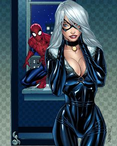 Spider-Man and Black Cat by Carlo Barberi