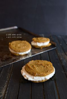 Dairy-free and Paleo, these Pumpkin Whoopie Pies will make satisfy your hunger. / #paleo #pumpkin #glutenfree #dairyfree #cookies