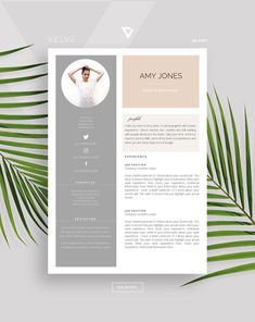Resume / CV 3 page Template Cover Letter / Instant Download | Etsy Cv Resume Template, Resume Cv, Cv Design, Resume Design, Creative Cv, Professional Cv, Page Template, Business Presentation, Cover