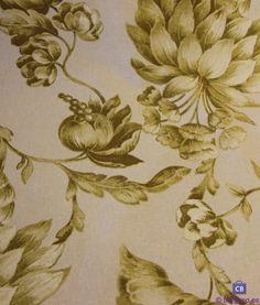 Tono sobre tono de París-estela floral-Gris-ex Ancho 100/% Tela De Algodón
