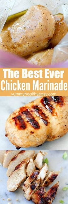 This is seriously the best chicken marinade recipe! I have made this marinade a hundred times and it always makes a super flavorful, cut-it-with-a-fork tender chicken breast. You will love the flavor (Chicken Curry Marinade) Chicken Marinade Recipes, Chicken Marinades, Grilling Recipes, Cooking Recipes, Simple Chicken Marinade, Recipe Chicken, Sauce Recipes, Healthy Drinks, Healthy Eating