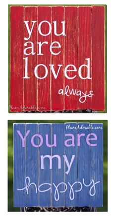DIY Faux Mini Pallet Board Sign! {these make such FUN homemade gifts, too!}