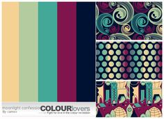 Collection Of Retro Color Palate.  I love these colors... Using for my front room!